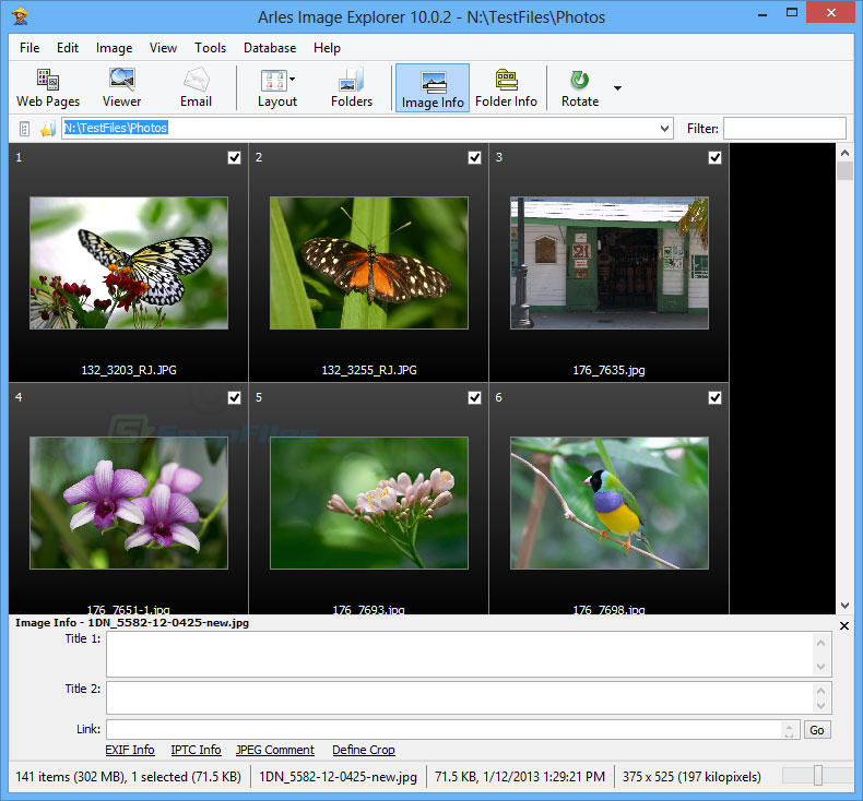 Arles Image Web Page Creator screenshot and download at SnapFiles
