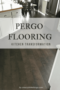 Pergo Flooring: Our Kitchen REVEAL!! | snazzy little things