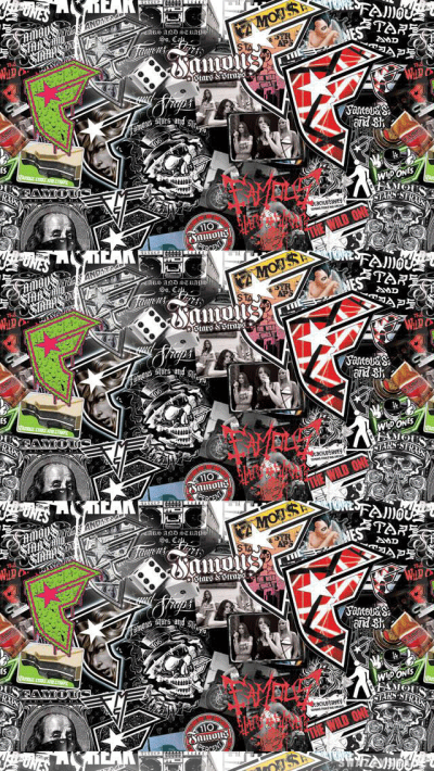 Famous Collage Logos iPhone Wallpaper