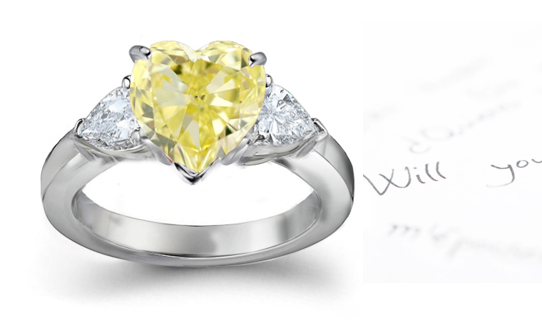 M Color Diamonds \u2013 Your Guide to Faint Yellow Diamond Rings