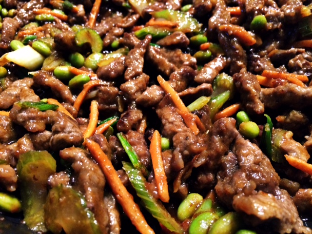Shredded beef with hot garlic sauce #asian #beef #stirfry #dinner #recipe #recipes #steak #veggies