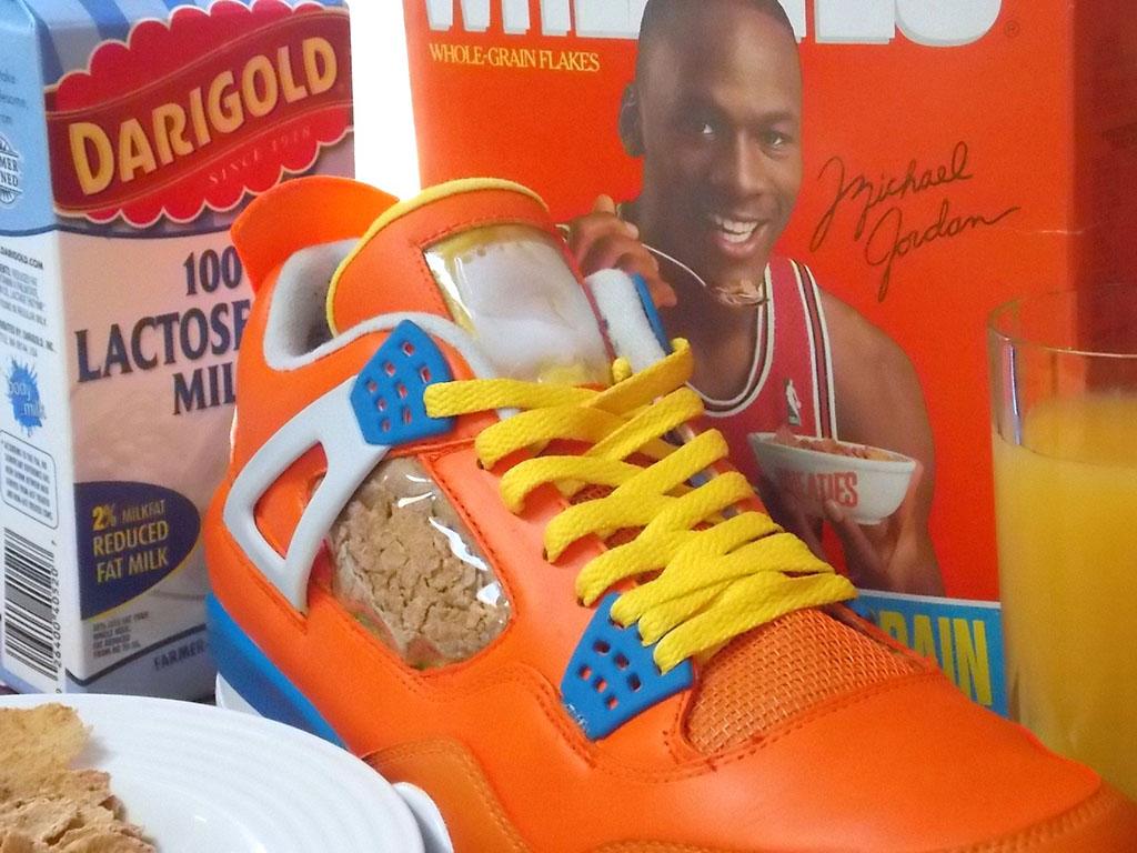Air Jordan 4 Wheaties Custom By Emmanuelabor Sneakerfiles