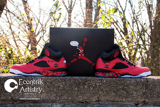 Air Jordan 5 Deadpool Custom Sneakerfiles