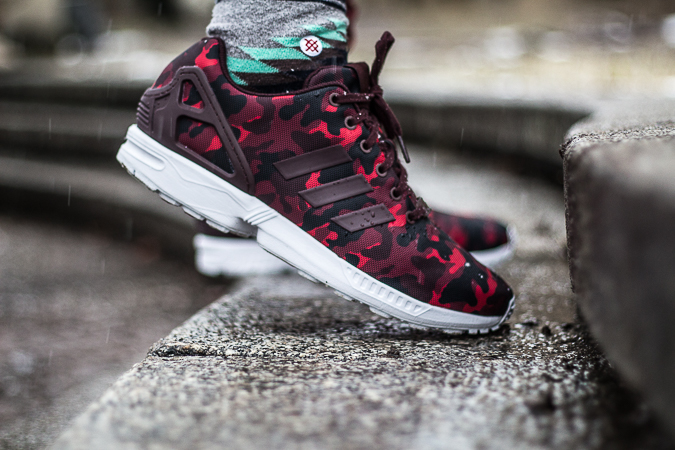 Adidas Zx Flux Camo Red
