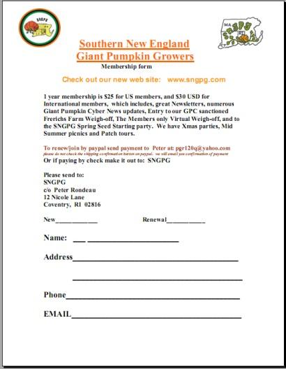 Membership Form - SNGPG
