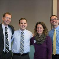 Matt Warner (who knew what snow is), Brandon Vogt (who is just shy of TEN YEARS younger than me!), Sarah Reinhard, Josh Simmons (eCatholic)