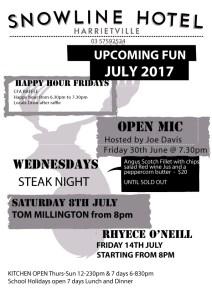 Live Music July 2017