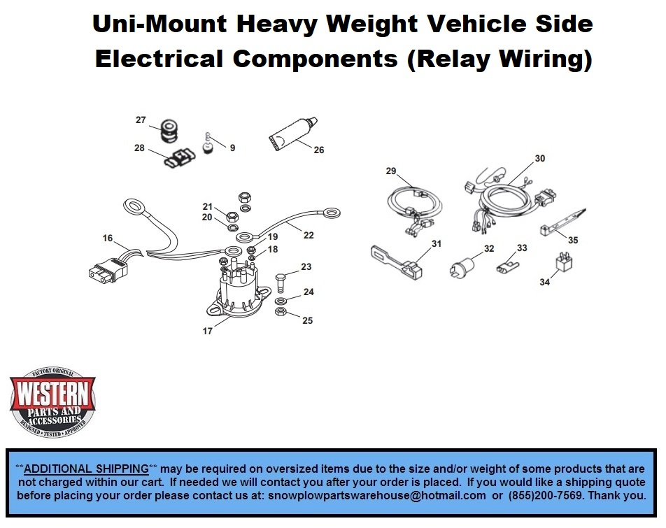 HeavyWeight - Uni-Mount Plows - Western Snowplow Parts With Diagrams