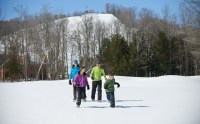 Crystal Mountain Family Snowshoeing 3
