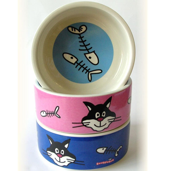 cat bowl - ceramic