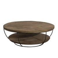 Table basse ronde noire double plateau 100cm Tinesixe - So ...