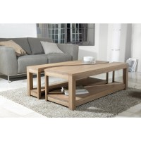 Table basse rectangulaire deux parties 120x70 bois massif ...