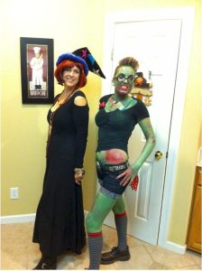 Green Pin Up Zomie and Hogwarts Professor of Wizar - 1682085136582