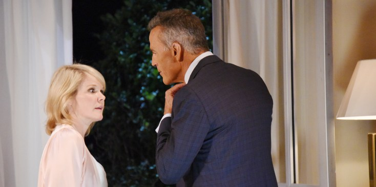 "Maura West, Richard Burgi ""General Hospital"" Set The Prospect Studios ABC Studios 08/08/16 © XJJOHNSON/jpistudios.com 310-657-9661 Episode # 13631 U.S. Airdate 08/30/16"