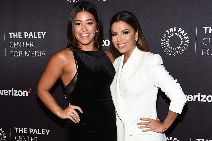 Gina Rodriguez (ex-Beverly, B&B) and Eva Longoria (ex-Isabella, Y&R) attendedThe Paley Center for Media's Hollywood Tribute to Hispanic Achievements in Television on October 24, 2016.