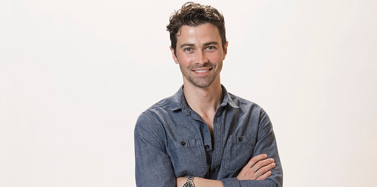 Actor Matt Cohen poses for a portraits at the Beverly Hills Ballroom of The Beverly Hilton in Beverly Hills at Disney | ABC Television Group's All-Star Cocktail Reception and Interview Opportunity. (Photo by Image Group LA/ABC via Getty Images Portrait)