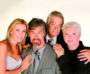 "Katherine Kelly Lang, Ronn Moss, Susan Flannery, John McCook ""The Bold and the Beautiful""  20th Anniversary 4 Original Cast Members Photo Shoot CBS Television City Los Angeles 3/16/07 ©Aaron Montgomery/jpistudios.com 310-657-9661"