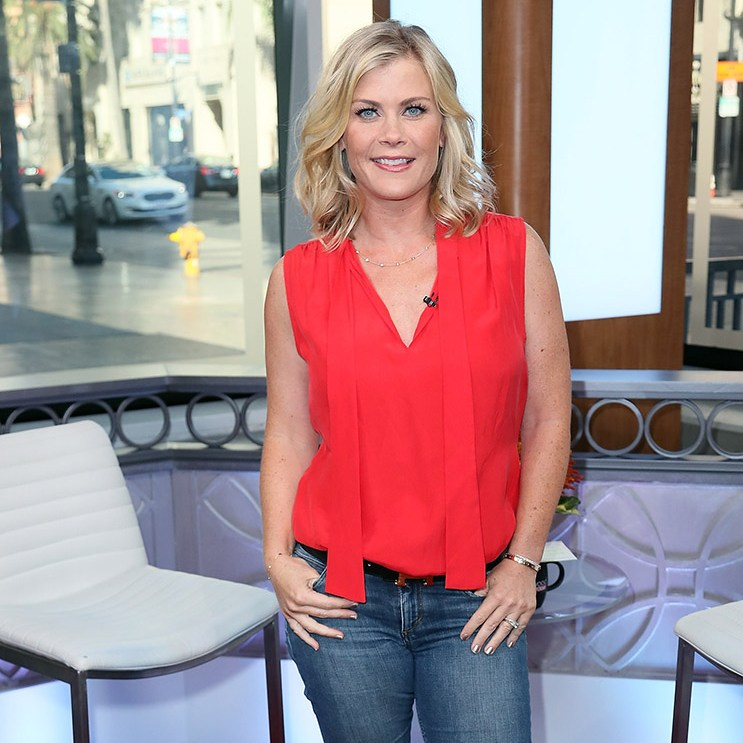 HOLLYWOOD, CA - SEPTEMBER 26:  Actress Alison Sweeney visits Hollywood Today Live at W Hollywood on September 26, 2016 in Hollywood, California.  (Photo by David Livingston/Getty Images)