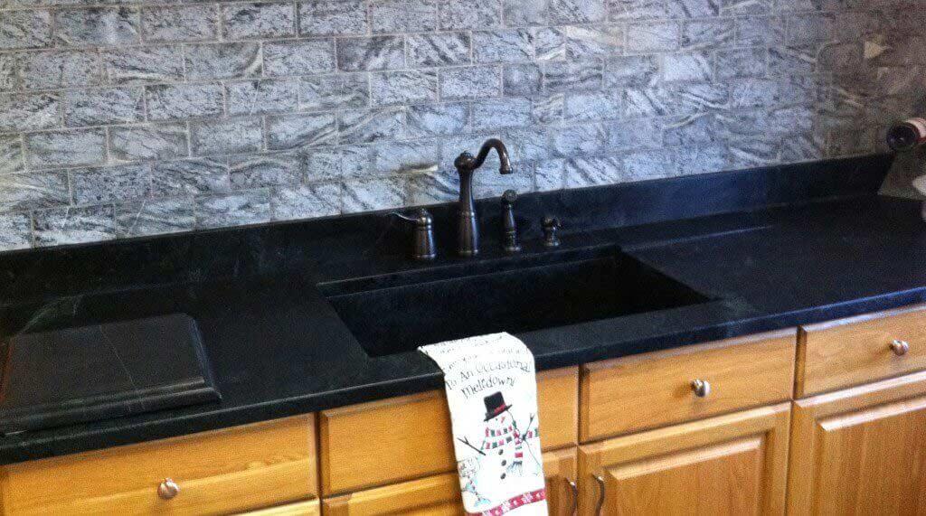 3 soapstone kitchen countertops Soapstone Subway Tile