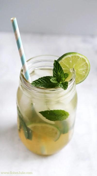 Mojito Recipe - Non-Alcoholic Drink - Sober Julie