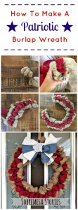 How To Make A Patriotic Burlap Wreath Sobremesa Stories