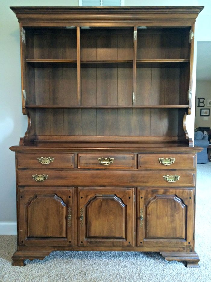 How To Paint And Distress A Wood Hutch Before