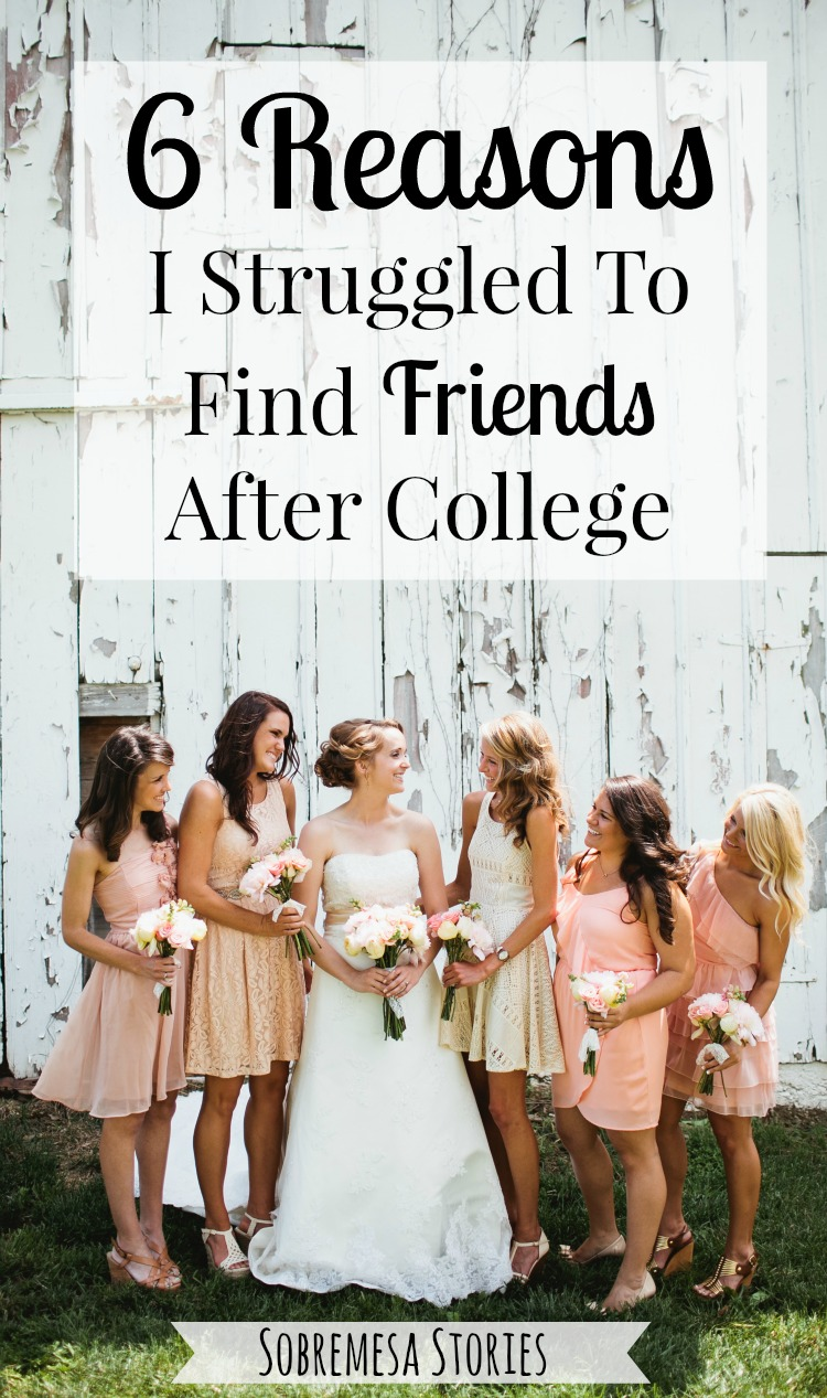 Finding friends after college is hard and these six things I did made it even harder.  Check out this post to read how I overcame these obstacles!