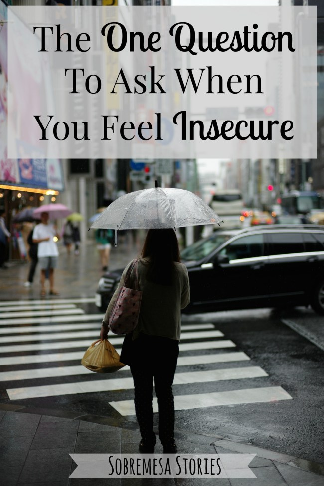 When you feel insecure, asking this one question can help you break the cycle of negative thoughts and remember the truths about yourself. Have you ever asked yourself this question?