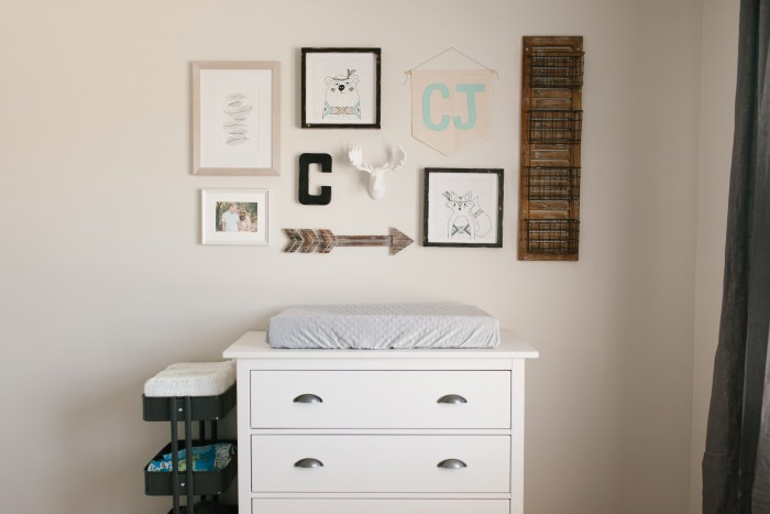 Caleb's Rustic Neutral Nursery Reveal With White, Gray, and Wood Accentsand Rustic Woodland Gallery Wall