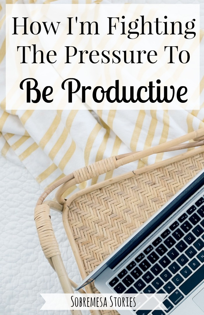 Do you ever feel tied to your to-do list and like you're failing because you can't get it all done? This post shares what you can fight the pressure to be productive and choose something better!