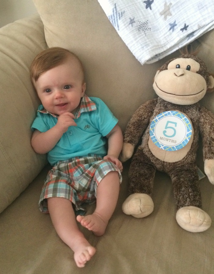 Caleb's Five Month Update Picture