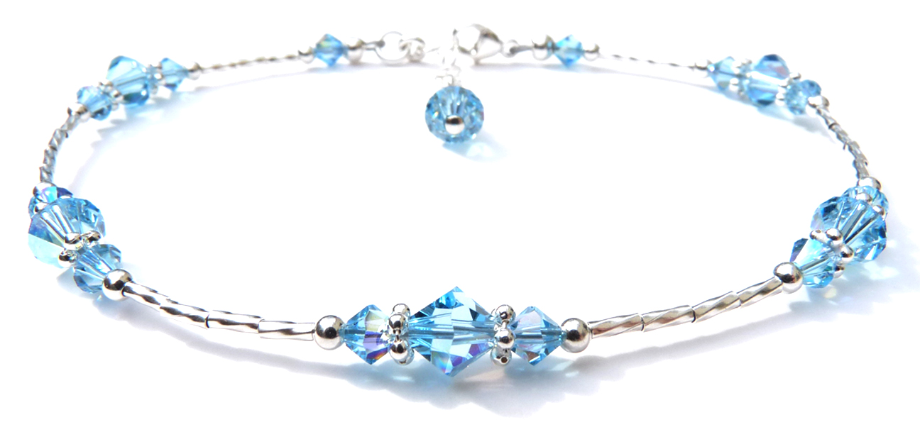 Birthstone Beaded Anklets and Ankle Bracelets