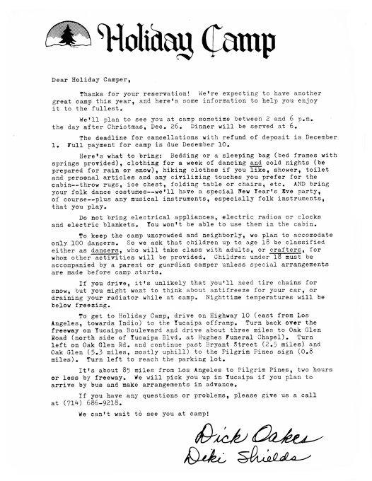 Deposit, Reservation, Survey - Folk Dance Federation of California
