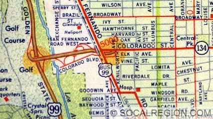 Western Segment of the Colorado Freeway in 1957.