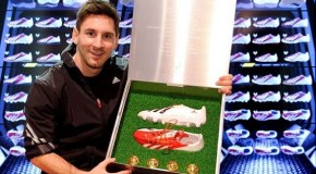Messi Spends Time With His Old (and New) Boots!