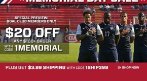 Soccer.com Memorial Day Weekend Sale