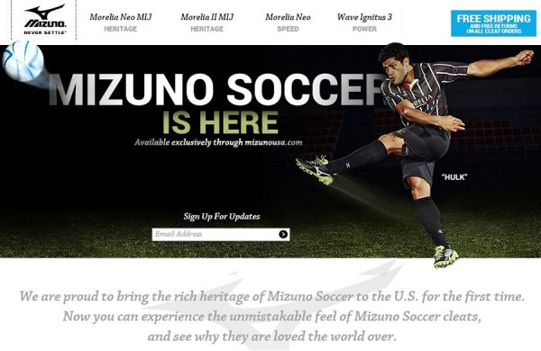 Mizuno Soccer is Here