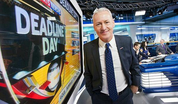 THIS is Jim White! He's Scottish, works for Sky Sports News and HE IS Deadline Day
