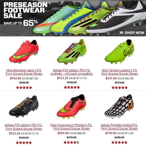 Preseason Boot Sale
