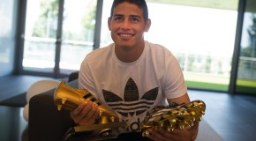 James Rodriguez Gets His Golden Boot With Golden Boots!