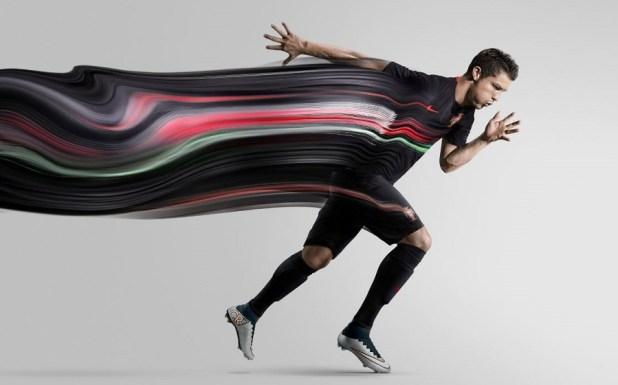 Ronaldo in new Portugal Away Kit