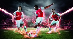 PUMA Launches the 2015-16 Arsenal Home Kit_Rosicky_Welbeck_Ramsey_1