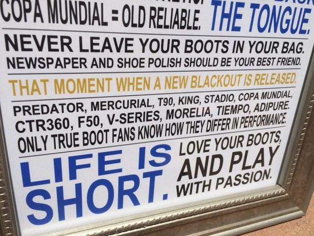 Soccer Boot Fanatic Manifesto