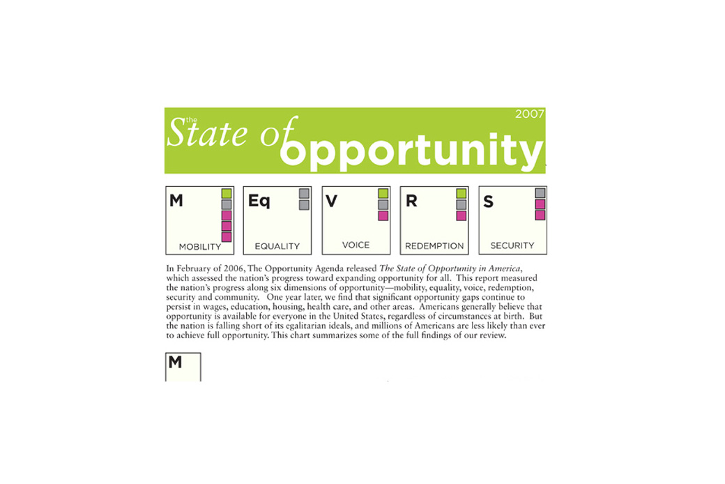 Opportunity Agenda Annual Report Social Ink