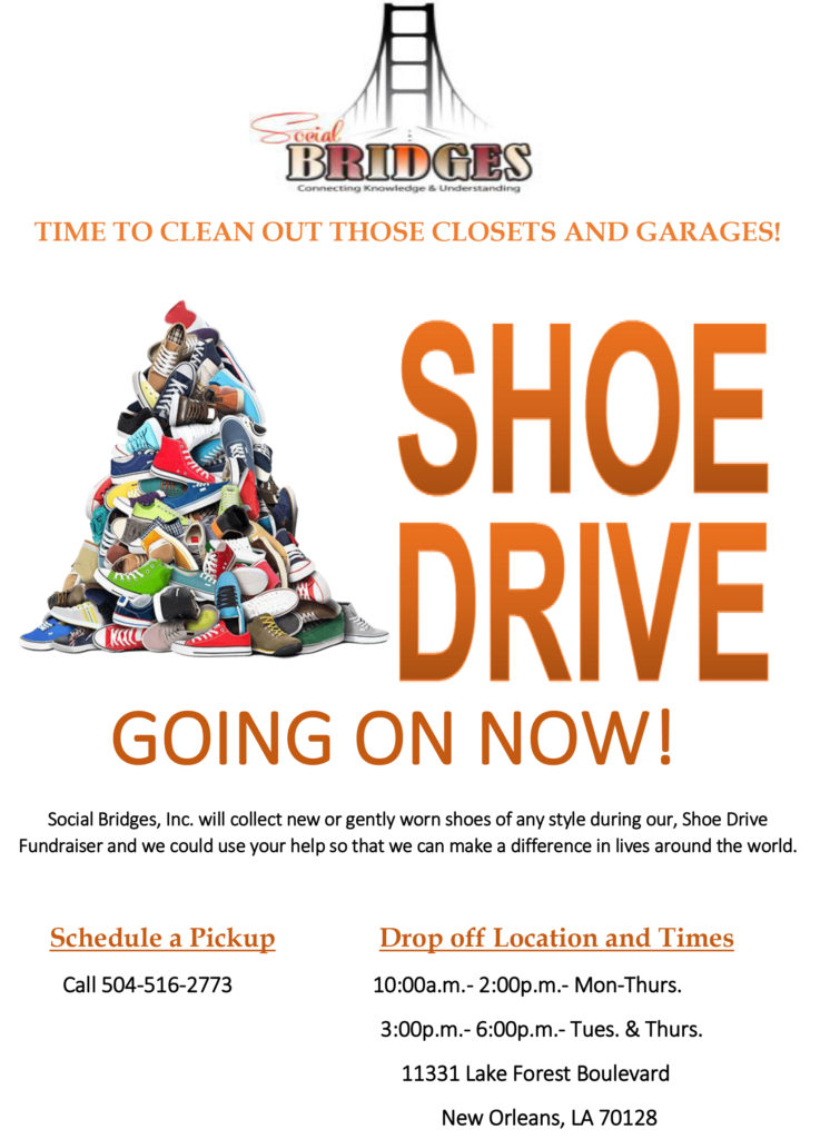 Shoe Drive Fundraiser \u2013 Social Bridges Inc