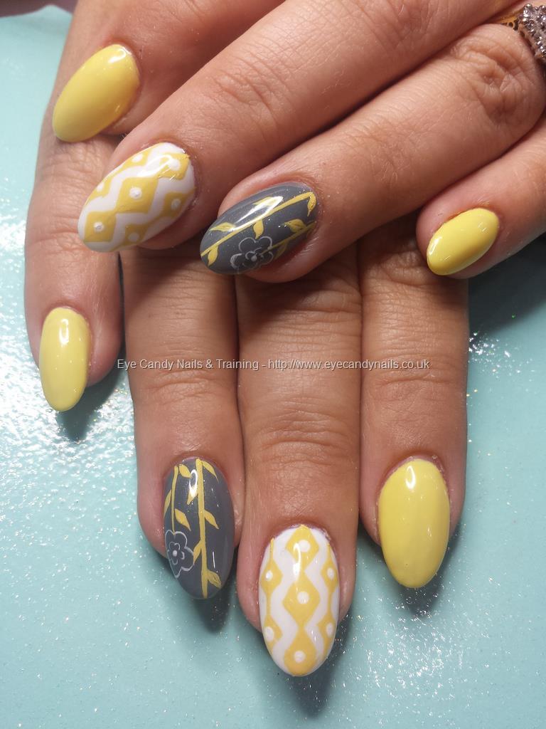 Dev Guy Pastel Lemon Yellow And Grey Gel Polish With
