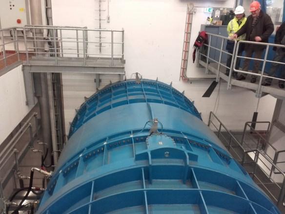 Weserkraftwerk Bremen. Turbinengehäuse