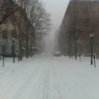 Exchange Street Portland Maine on a Snowy Day