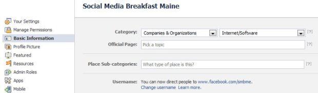 Change your Facebook Username