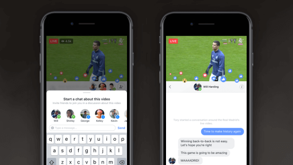 Facebook introduced Live Chat With Friends and Live With, two new features that make it easier to share experiences and connect in real time with your friends on Live.